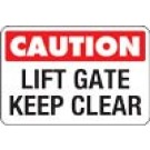 Caution Lift Gate Keep Clear Truck Decal