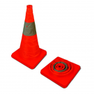 "18"" Orange Collapsible Cone with Reflective Stripe"