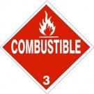D.O.T. Combustible Class 3 Placard