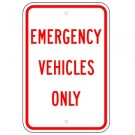 No Parking - Emergency Vehicles Only