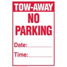 Temporary Tow-Away No Parking Sign