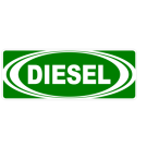 Diesel w/ White Oval Decal